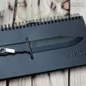 Bloc-notes luxe carnet avec un couteau en relief