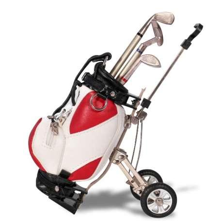 3 stylos clubs de golfeur dans sac de golf