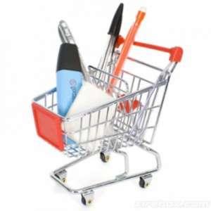 Chariot caddie range fournitures de supermarché miniature pour bureau