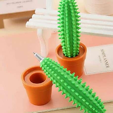 Stylo plante cactus et 1 pot