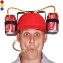 Casque à boire avec paille et double support à bouteilles boissons