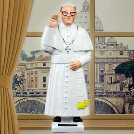 Figurine animée du Pape à énergie solaire