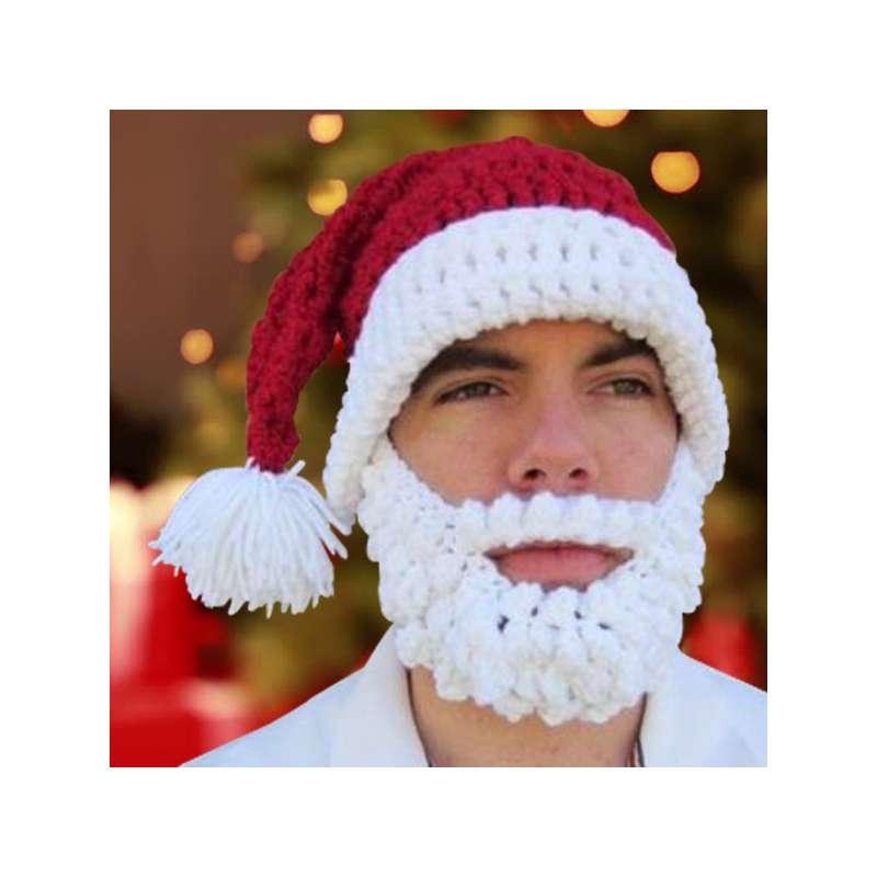 Bonnet à barbe déguisement de Père Noël - Totalcadeau 3c435ffe321