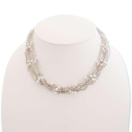 Collier près du cou 9 chaînettes et perles