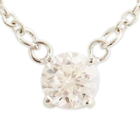 Magnifique collier argenté avec pendentif gros strass