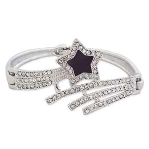Bracelet magnifique étoile filante strass et noire