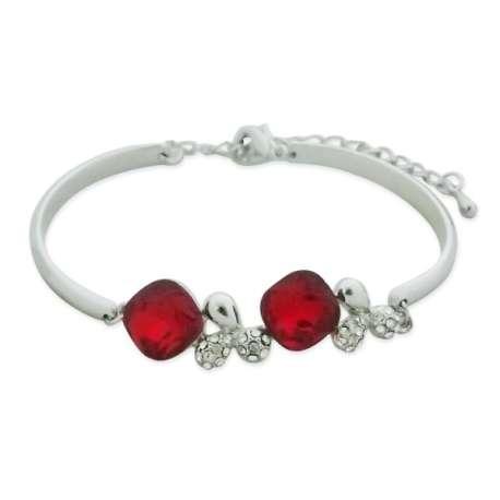 Bracelet brillant et rouge passion