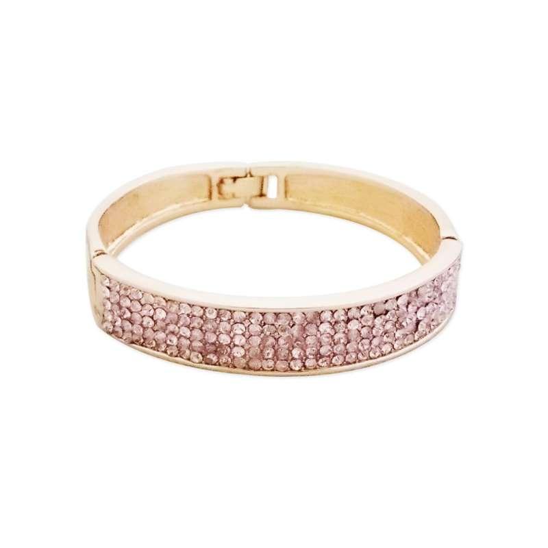bracelet l gant dor aux strass rose p le totalcadeau. Black Bedroom Furniture Sets. Home Design Ideas