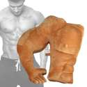 Coussin bras câlin en forme de torse musclé