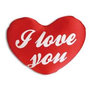 Coussin cœur lycra I Love You 33 cm oreiller