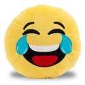 Coussin smiley pleure de rire