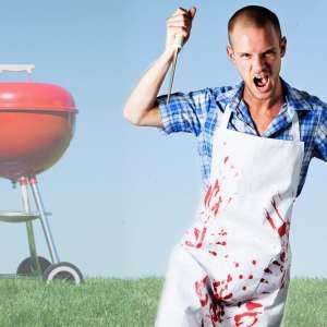 Tablier humoristique sanglant pour cuisine tâches de sang