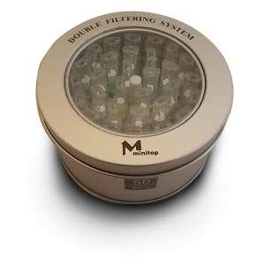 Boite ronde de 50 filtres à cigarettes anti nicotine et goudron