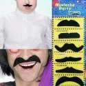 6 fausse moustaches adhésives accessoire de déguisement