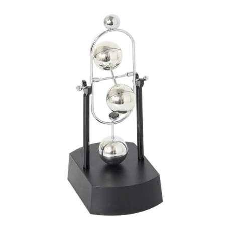 Balancier newton boules en m tal en rotation perp tuelle totalcadeau - Objet anti stress bureau ...