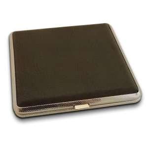 Large boite à cigarette de couleur gris foncée