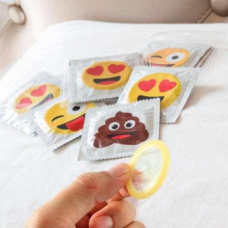 Pack de 6 préservatifs émoticones