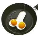 Moule en acier pour œufs sur le plat forme de pénis zizi