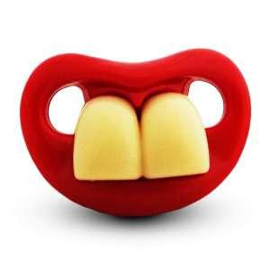 Sucette et tétine humoristique deux grandes dents