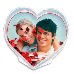 Cadre photo à confettis cœur