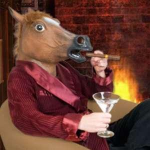 Masque tête de cheval déguisement en latex costume
