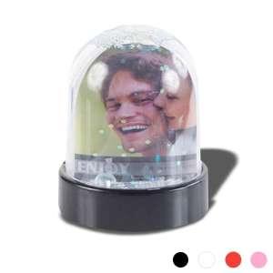 Cadre photo en forme de boule à paillettes