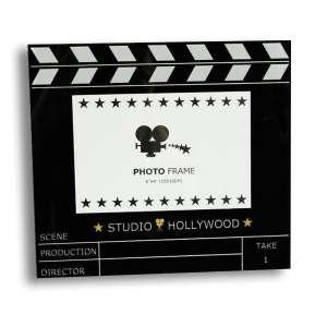 Cadre photo en forme de clap de cinéma Studio Hollywood