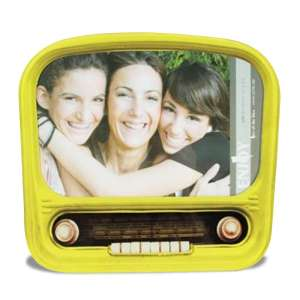 Cadre photo radio vintage colorée