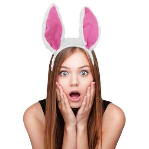 Serre-tête à oreilles de lapin dansantes au rythme de la musique