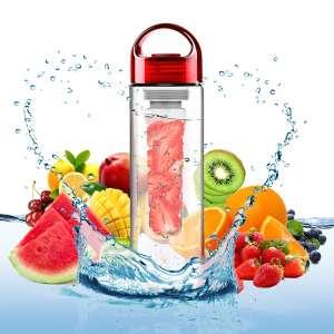 Bouteille pour infusion à diffuseur amovible fruit