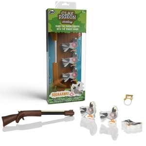 Jeu de tirs de pigeons miniature pour bureau cible