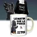 Mug Dark Vador le matin que la force soit avec toi tasse originale