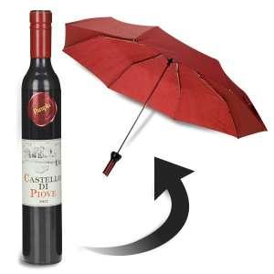 Parapluie en forme bouteille de vin
