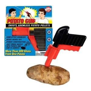 Pistolet à munition patates jeu fun et jeu humoristique