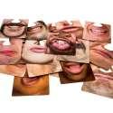 Sous-verres en forme de bouches dessous recto verso (20 pièces)