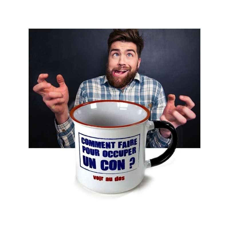 tasse avec inscription comment occuper un con mug originales totalcadeau. Black Bedroom Furniture Sets. Home Design Ideas