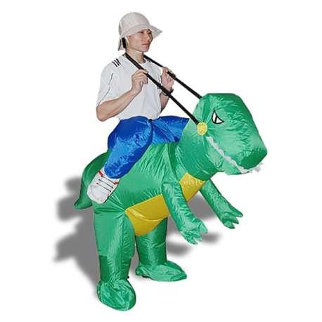 Déguisement d'explorateur à dos de dinosaure Costume aventurier