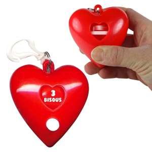 Porte-Clés en forme de coeur roulette à bisous loterie originale