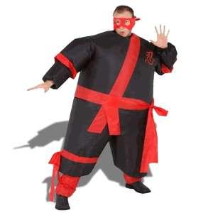 Déguisement ninja gonflable costume samourai avec bandeau