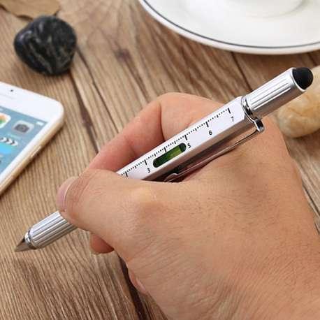 Stylo multifonction bricolage 6 en 1 stylo, niveau, règle, stylet