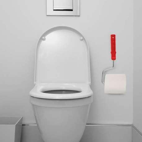 Dérouleur de papier wc en forme de rouleau à peinture