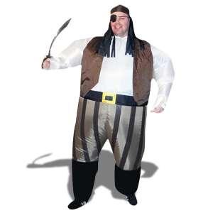 Costume de pirate gonflable deguisement avec chapeau