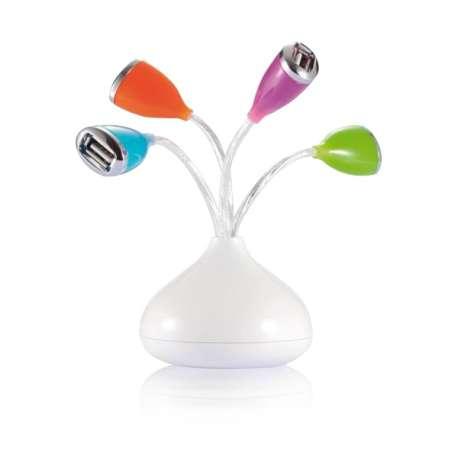 Hub USB en forme de bouquet de Fleurs ( 4 ports )