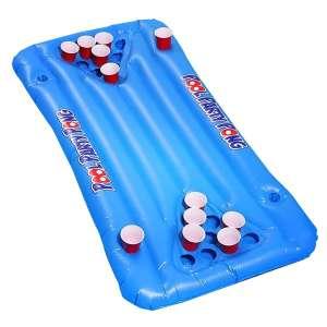 Jeu de piscine Beer Pong - Matelas gonflable jeu alcool piscine
