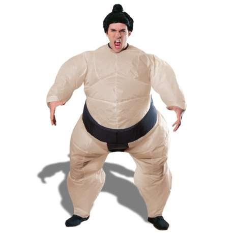 Déguisement sumo gonflable costume avec coiffe