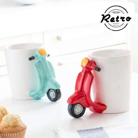 Tasse rétro scooter - Mug scoot vespa pour café et thé