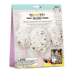 20 Ballons transparents à confettis Ballons pour fête anniversaire