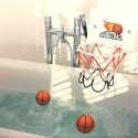 Jeu Basket de bain 1 panier à ventouses, 2 mini balles flottantes