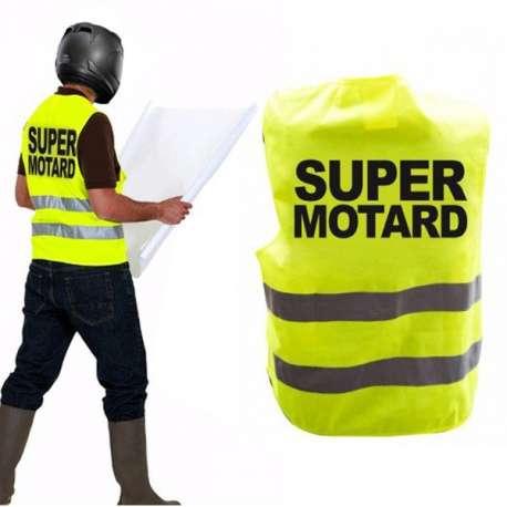 Gilet jaune fluo réfléchissant super motard