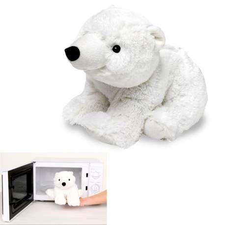 Peluche ourson polaire Bouillotte à réchauffer au micro-ondes